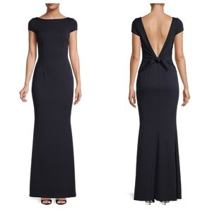 BHLDN KATIE MAY Intrigue Navy Back Bow Gown Dress